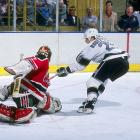 """""""Lucky Luc"""" was beloved by Kings fans during his 14 seasons in LA. Chosen by the Kings with the 171st overall pick in the ninth round of the 1984 NHL Draft, he went on to win the Calder Trophy as rookie of the year for 1986-87. In 1992-93, he set NHL marks for goals (63) and points (125) by a left wing. A mainstay of LA's 1993 Cup final team, Robitaille now ranks second behind the great Marcel Dionne on the Kings' all-time scoring list with 577 goals, 597 assists and 1,154 points.  On a league-wide scale, he's 10th all-time in goals (668) and 21st in scoring (1,394 points). The Kings retired his number (20) on January 20, 2007 and he now serves as the team's President of Business Operations."""