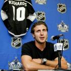 On June 23, 2011, the Kings added a key piece to their championship puzzle by acquiring former Flyers captain Mike Richards from Philadelphia for Wayne Simmonds, Brayden Schenn, and a second-round draft pick.  During the 2011-2012 regular season, Richards would struggle offensively, posting only 44 points in 74 games played, but he became vital to the Kings' playoff run by producing 10 points in 13 games during the first three rounds.