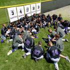 Five members of the Bluffton University baseball team died when the team's bus fell from an overpass in Atlanta.