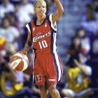 The 5-foot-5 Houston Comets point guard succumbed to lung cancer during the 1999 WNBA season. She was the first active player in the WNBA to die. Following her death, the Comets won their third straight WNBA title and posthumously awarded Perrot her third championship ring.
