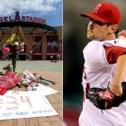 The 22-year-old Angels hurler was killed by a hit-and-run driver just hours after throwing six shutout innings in his season debut.