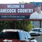 Steve Spurrier greets South Carolina with a classic Spurrier face on a Columbia, S.C., billboard.