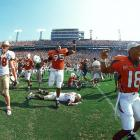 The 2000 Hurricanes were well stocked with future NFL stars (Clinton Portis, D.J. Williams, Santana Moss, Jeremy Shockey, Ed Reed, Andre Johnson, Reggie Wayne), but did not earn a BCS championship berth despite beating Florida State, which was selected over Miami. Matters only looked worse when Oklahoma beat the Seminoles, 13-2, in the BCS championship.