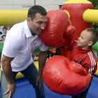 The heavyweight champion and his next opponent met in Kiev to promote their upcoming bout.