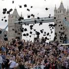 Speaking of college daze, hundreds of students in London attempted a Guinness World Record -- not for consuming Guinness, for the most people throwing mortar boards in the air simultaneously.