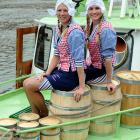 In Bremen, Germany, Michelle and Shanna ushered in herring season on June 6 by rolling out barrels of everyone's favorite fish, which play an 82-game schedule before playoffs begin in October.