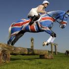 Majestically sporting the Union Jack, his ears happily pricked up (though he must have been secretly annoyed by the paint job), the 14-year-old equine got into the spirit of the Queen's Jubilee at Barbury Castle Estate in Wiltshire, England. For more dramatic footage of Natterjack's highly unusual career,   CLICK HERE