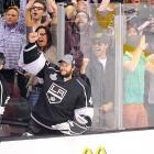 """The man  Rolling Stone  once labeled """"the poster boy for tweenyboppers"""" was spotted gesticulating enthusiastically while the Kings battled the Devils in Game 6 of the Stanley Cup Final at Staples Center in Los Angeles."""