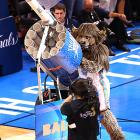 Meanwhile in Oklahoma City, the USA's new air defense system was tested during Game One between the hometown Thunder and the Miami Heat.