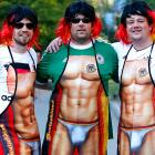 These swarthy German partisans at the Euro 2012 tournament modeled the latest in fanwear for gents.
