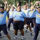 What's that old cliche about policemen and donuts? Appears to be some truth to it. More than 300 cops in the Philippines were sent to a fitness program in Quezon City. First order: jumping jacks, not flapjacks.