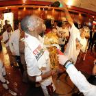 The Miami Heat celebrate the conclusion of yet another stirring run through offbeat photography from the world of sports, pop culture and smelting. See you, or someone who looks just like you, next week. Cheers!