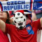 A horny Czech Republic fan during  his team's quarterfinal match against Portugal.