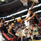 Norris Cole dishes the ball during Game 4 of the Eastern Conference Finals.