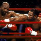 Lewis owned the WBC heavyweight title, while Holyfield held the WBA and IBF belts, but the much-anticipated title fight between the two men unified nothing when the judges returned a draw. Judge Eugenia Williams somehow scored the fight in favor of Holyfield, even though he landed 130 punches compared to a staggering 348 for Lewis. (Lewis won the rematch convincingly.)
