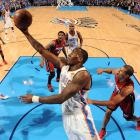 Kendrick Perkins converted both of his field goal attempts and pulled down seven rebounds.