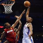 With Kevin Durant (pictured) scoring a game-high 36 points, the Oklahoma City Thunder won Game 1 of the NBA Finals against the Miami Heat. Here are some of SI's best shots from the game.