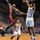LeBron James (pictured) and the Miami Heat threw down on the Oklahoma City Thunder Thursday night, evening the NBA Finals at 1-1 with Game 3 Sunday night in Florida.
