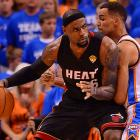 Though the Thunder tried to slow LeBron James, he scored at least 30 for the second straight game against OKC and for the fifth straight game in the playoffs.