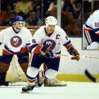 The Isles firmly established their dynasty by rolling to their second successive Stanley Cup in what would be a run of four as well as a fifth straight final appearance, in 1984. Opening with a three-game sweep of the Maple Leafs (by scores of 9-2, 5-1 and 6-1), they met a six-game challenge from the Oilers before concluding their run with sweeps of the Rangers and North Stars. Winger Mike Bossy set records for points (35) and power play goals (9) in a single postseason.