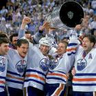 Wayne Gretzky led the juggernaut Oilers, who had 11 home wins during the postseason, to their fourth Stanley Cup. In Edmonton's sweep of the Bruins, the Great One set a single Cup final scoring mark of 13 points (three goals, record 10 assists) and took home the Conn Smythe Trophy.