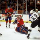 Backstopped by rookie sensation Patrick Roy, who won the Conn Smythe Trophy, the Canadiens won the 24th Stanley Cup in their illustrious history after surviving a challenging six-game first round vs. the rival Quebec Nordiques. Three of the games went to overtime, as did three in Montreal's second-round sweep of Buffalo. Dispatching the Islanders in five in the Eastern final, the Habs took on Wayne Gretzky and the LA Kings for the chalice. After losing the opener, they reeled off four straight wins.