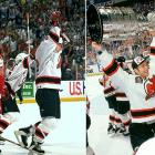 As the fifth-seed in the East, the Devils were a bit of a surprise while making their first Cup final appearance in 21 seasons. They lost only four games in the first three rounds, taking out the Bruins in five, the Penguins in five, and the Flyers in six, with Conn Smythe-winner Claude Lemieux providing clutch goals and Martin Brodeur solid in net. In the final, they swept the favored Red Wings, who'd lost only twice en route to the series. The Devils allowed no more than two goals in any of the four games and set a single postseason mark with 10 road victories.