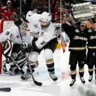 """They shed """"Mighty"""" in name only, winning their first Pacific Division title. with 110 points, then tearing through the postseason while taking out the Wild and Canucks (two double OTs) in five games apiece, the Red Wings in six after falling behind two games to one, and the Senators in five."""