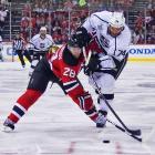 Devils defenseman Anton Volchenkov cramped Dwight King's style.
