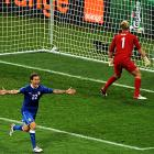 After two hours of clever, often dominating but in the end fruitless play, Italy found the answer against England. Penalty kicks. Alessandro Diamanti (shown) scored the decisive kick Sunday to send Italy through to the European Championship semifinals with a 4-2 win in the shootout following a 0-0 tie with England.