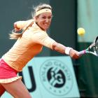 The WTA No. 1 dropped her first set of the tournament, and looked shaky and frustrated in her early matches. In one of the biggest upsets of the tournament, Azarenka fell to Dominika Cibulkova in the fourth round.