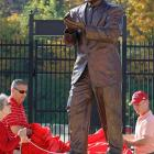 College Football Icons With Statues