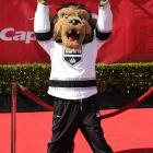 Yes, it's high summer and the Stanley Cup is making its annual rounds. The hallowed chalice was escorted onto the red carpet at the Nokia Theater in Los Angeles by Bailey, the official mascot of the NHL champions.