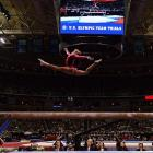 "Gabby Douglas, known as the ""Flying Squirrel,"" showcases how she earned her nickname: The 16-year-old soared on the balance beam on the first night of the U.S. Olympic trials in San Jose, Calif., on June 29. Douglas edged world champion Jordyn Wieber to win the trials and claim the guaranteed spot on Team USA."