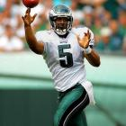 McNabb was the face of the Eagles franchise for a decade before moving to Washington and Minnesota. A six-time Pro Bowler with five NFC Championship games on his resume, he is one of six quarterbacks to have both 25,000 passing yards and 3,000 rushing yards.   Runner-up:   Paul Hornung    Worthy of consideration:   Morten Andersen (Atlanta), Jeff Garcia, George McAfee