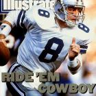 As the trigger man for the Cowboys dynastic teams in the 1990s, Hall of Famer Aikman led the team to three Super Bowl titles.   Runner-up:   Steve Young    Worthy of consideration:   Mark Brunell, Ray Guy, Archie Manning, Davey O'Brien, Larry Wilson