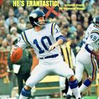 A dual-threat thanks to his remarkable scrambling ability, Tarkenton set NFL records (since broken) for attempts (6,467), completions (3,686), yards (47,003) and touchdowns (342). He led the Vikings to three Super Bowl appearances.   Runner-up:   Steve Bartkowski  Worthy of consideration: Eli Manning, Byron (Whizzer) White, Jim Zorn