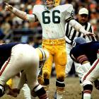 The NFL's Hall of Fame Web site calls him a savage defender on defense – an apt description. Nitschke patrolled the middle of Lombardi's defense with speed and anger. He had 25 interceptions and was the MVP of the 1962 NFL Championship.   Runner-up:   Bill Bergey    Worthy of consideration:   Conrad Dobler, Alan Faneca, Joe Jacoby, Larry Little, Bulldog Turner