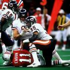 "Dent was a central figure on Chicago's dominant ""46"" defense (he played defensive end) that ate the NFL whole in 1985. That year, he led the league with 17 sacks and earned Super Bowl XX MVP honors.   Runner-up:   Greg Lloyd    Worthy of consideration:   Bryce Paup"