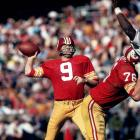 Washington Redskins quarterback Sonny Jurgensen winds up for a pass against the Philadelphia Eagles at RFK Stadium.  Jurgensen threw for 32,224 yards and 255 touchdowns over the course of his illustrious career, earning him a spot in the Hall of Fame class of 1983.
