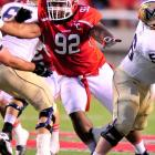 The future NFL first-rounder plays low, gets great leverage and can't be single-blocked.