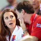 According to our official Olympics eavesdropper, the Duchess of Cambridge was informed by Team Great Britain's official ambassador Robin Cousins that piranhas had been introduced to the Women's Teams Synchronized Swimming Technical Routine competition for the sake of speeding up the action.