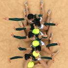 For all you interpretive dance fans out there, Japan's team interprets the children's classic  The Very Hungry Caterpillar  during the Olympic Group All-Around Final Rotation at Wembley Arena.