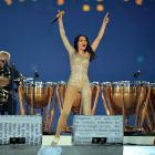 Any closing ceremony worth its smoke and fireworks needs a little music   and an Ozzy Osbourne impression  . The British songstress delivered with help from skins pounder Roger Taylor of Queen.