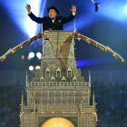 The erstwhile Peter Pettigrew of Harry Potter fame made a dramatic appearance as Wormtail Churchill during the gala Closing Ceremony in London.