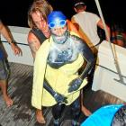 As any fisherman worth his salt can tell you, you never know what you'll pull from the drink -- oil-covered scuba divers, moldy pirates, maybe even a 62-year-old swimmer trying for the fourth time to make it from Cuba to the Florida Keys.