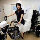 You'll never need to use a grimy gas station restroom again if you buy one of TOTO's eco-friendly, three-wheeled 250cc motorcycles with the customized seat. This baby runs on bio-fuel from the discharge of livestock or waste water. Beer drinkers get extraordinary mileage per gallon.