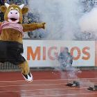 Welcome to  Did You See That? , the world's most explosive photo gallery. By way of proof, here's Cooly the mascot getting a bang out of the opening ceremony at Zurich's Letzigrund Stadium.