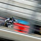 USA's MotoGP rider Ben Spies is just a blur as he flies across the track during the USA Grand Prix in Indianapolis.