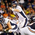 Peyton Manning saw his first game action since the 2010 Pro Bowl and his first in a Broncos uniform in a 31-3 win over the Bears. It was a short outing for Manning, who completed 4 of 7 passes for 44 yards an interception.
